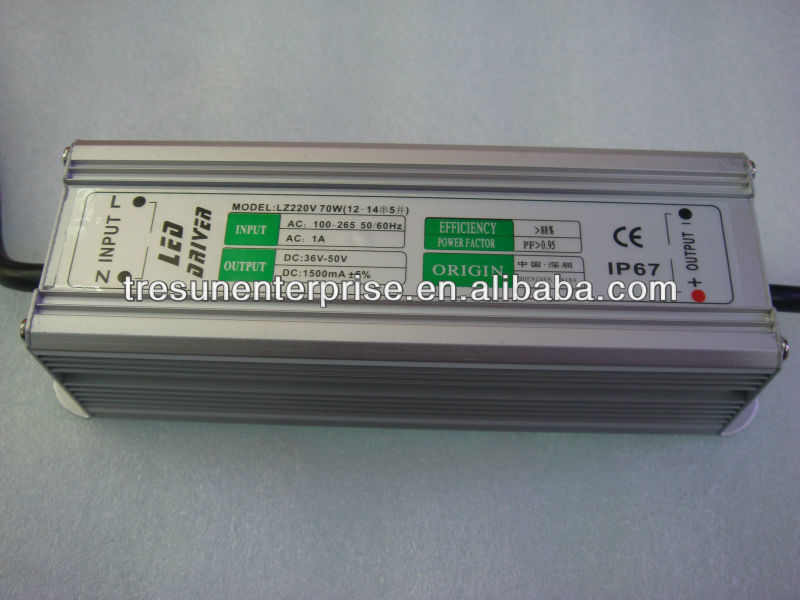 1500mA Constant current led driver 70W Waterproof ac/dc power supply