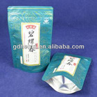 Resealable tea packaging aluminum foil stand up bags