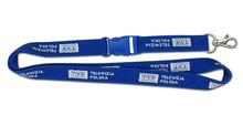 Woven webbing luggage belt lanyard/cell phone lanyard with carabiner