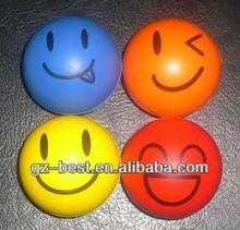 Versatiblity smiley PU foam ball