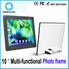 Slim shape white & black newest 10 inch digital frame