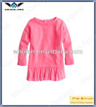 Kind sclothes langarm 100% baumwolle rosa baby girl dress