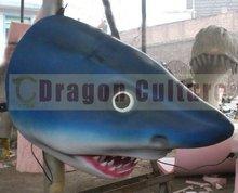 Water Theme Park 3d Animal Model Moving Of Fiberglass Shark