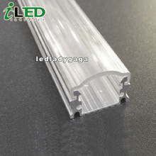 Support LED rigid bar and flexible strip aluminum profile section