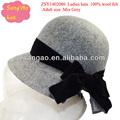 Venta al por mayor/hacer la moda sombrero de fieltro de lana formal sombreros de lana boina hembras cap100% desgaste de fieltro de lana para festvial/partido/de la boda/topee