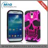 Black Silicone Red eletroplated PC case for samsung galaxy s4, for samsung s4 case