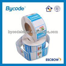 Promotional epoxy resin sticker
