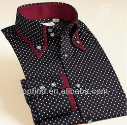 Latest double collar Dot Design Formal &Leisure long Shirt for Men