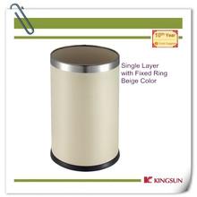 round cardboard waste bin single layer for office