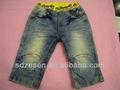 washed jeans cintura elástica jeans para crianças