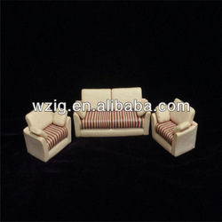 Beijing scale model sofa,ceramic sofa furniture,mini sofa scale 1:30