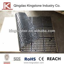 Rubber thicken tile sheet floor with interlocking