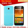 New Arrival zopo 700 5mp camera brand mobile phone 4.7 inch mtk6582 shenzhen mobile phone 3g