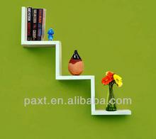 W-shaped wall shelf wall bookshelf for living room