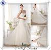 FQ0327 Lace Bodice Backless Organza Wedding Dresses Bridal