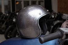mega flake 3/4 open face motorcycle helmet with sun visor