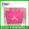 Hot selling_Eco-friendly pink bag/non woven tote bag/pink shopping bags