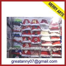 High quality animated christmas santa hat custom make infant santa hats