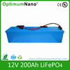 LFP 12v 200ah lithium iron battery for solar energy system