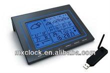 YD8218IE 5 days weather forecast big digital skeleton clock