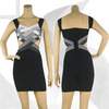 new unique design v neck short evening dress from direct factory AM771