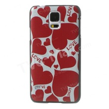 LOVE Red Hearts PC Back Case for Galaxy S5 G900 GS 5