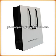luxury cheap paper shopping bags wholesale/shopping paper bag printing custom