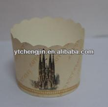 decorative square paper cake cups/square baking cups