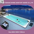 Acrílico de luxo piscina de fibra de vidro piscina/piscina inground hs-s08