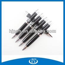 Promotional Cute Small Black Ball Pen Mini Flat Pen