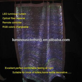 2014 waterproof dirty proof optic fiber decoration curtain