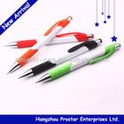 plastic colored ballpen, rubber grip ballpointpen, cheap pen with logo