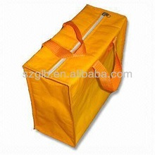 2014 promotion 70gsm PP nonwoven insulated cooler bag yellow