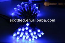 super brightness led pixel light string ip65 5v round shape;rgb led pixel lights string
