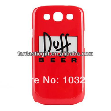 Popular OEM atacado Duff Beer rígido capa Case para Samsung Galaxy S3 I9300