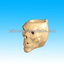ceramic skull head cup hollow bottom