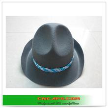 mens fedora hat black with custom hatband
