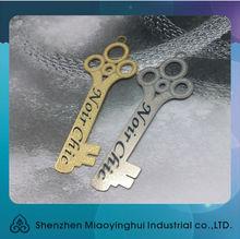 2014 Plain simple shiny metal numbered key tag