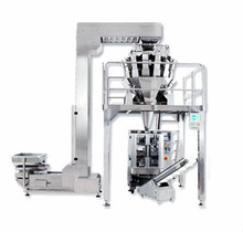 PNEUMATIC INTERMITTENT COLLAR TYPE POUCH PACKING MACHINE WITH MULTIHEAD WEIGHER