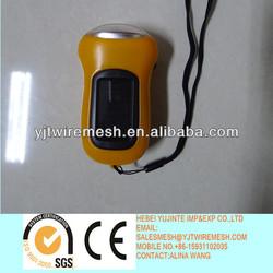 Hand Crank Energy-saving 3 LED solar dynamo flashlight/dynamo light rechargeable/3 led dynamo light