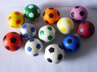 PU stress ball/ promotional colourful soccer shape ball