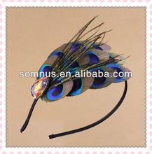 Somnus 2014 Summer Natural Peacock Feather Headband