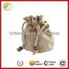 mini Drawstring pouch bag jute pouch