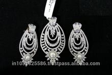 High Quality Designer American Diamond Pendant Set(3pcs Set)