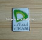 UAE Etisalat lapel pin badges, metal name plate