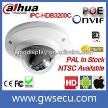 Dahua IPC-HDB3200C 2 Megapixel full hd 1080p Mini Dome IP PoE Camera 3.6mm Lens support ONVIF