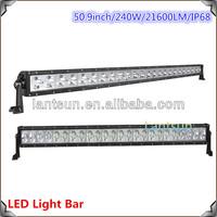 Heavy Duty Machine single row 240w 50inch high cr ee led light bar export