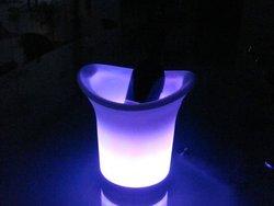 clear acrylic plastic LED Ice Bucket/Cooler wholesale