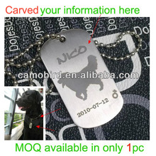 Outdoor Stainless steel Dog Name Tags Pendant Metal Pets Tags Animal ID Tags.