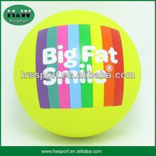 yellow hollow rubber handball ball